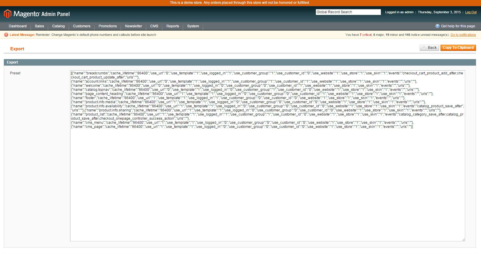 how to clear magento cache