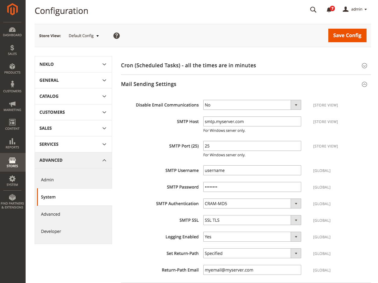 Custom SMTP Configuration for Magento 2