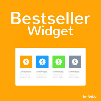 Bestseller Widget for Magento 2