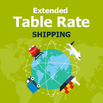 Extended Table Rate Shipping for Magento 2