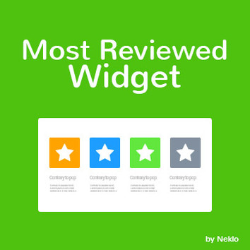 Most Reviewed Widget for Magento 2