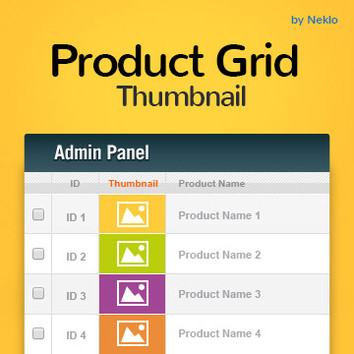 Product Grid Thumbnail for Magento 1
