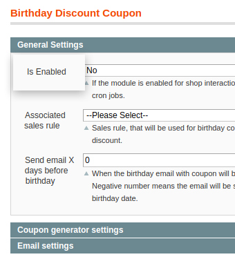 discount example in birthday extension