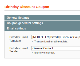 coupon in birthday coupon extension