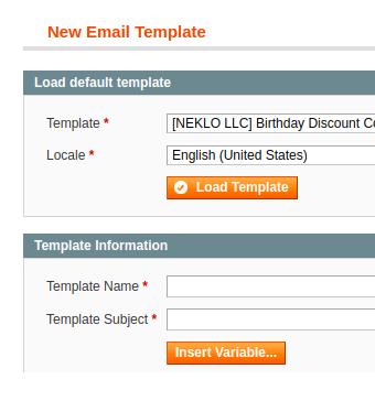 new email template example