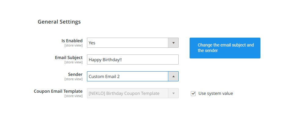 choose the email template