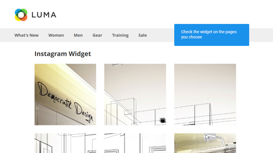 See the set widget on frontend