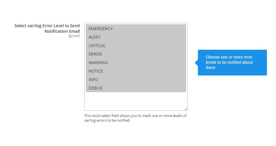 Sensitivity level for notifications