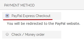 express checkout form