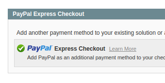 checkout in paypal express extension