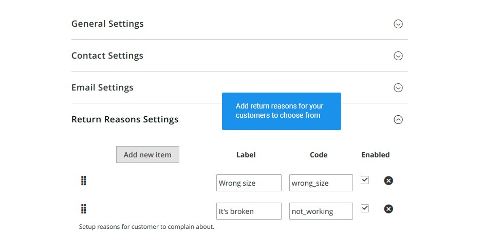 Create return request templates for customer emails