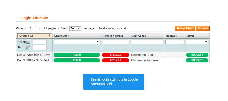 login attempts in security suite